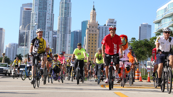 Spoelstra Leads Bike Ride for 550