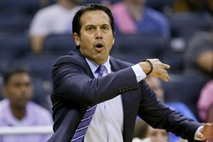 Miami HEAT coach Erik Spoelstra, in Year 8, getting to know his latest challenge