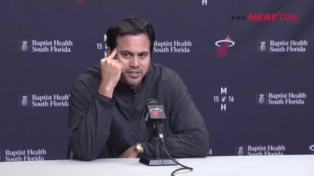 Coach Spo at shootaround